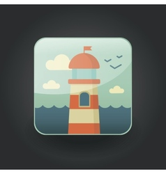 App icons lighthouse vector
