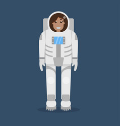 astronaut flat style vector image vector image