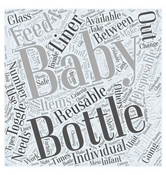 Baby bottles word cloud concept vector