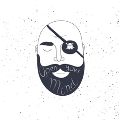 Beard man creative quote for your design vector image vector image