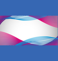 Blue nad purple wavy lines on paper vector