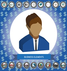 Business elements infographic with icons person id vector