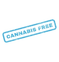 Cannabis free rubber stamp vector