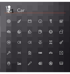 Car line icons vector