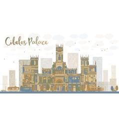 Cibeles palace madrid spain vector