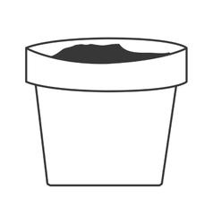 Clay plant pot vector