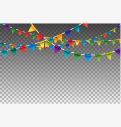 colorful isolated garland with party flags vector image vector image