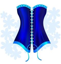 dark blue corset vector image vector image