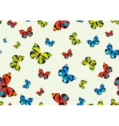 funky butterflies vector image vector image