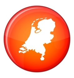 Holland map icon flat style vector
