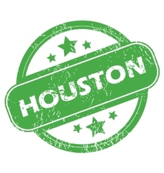 Houston green stamp vector