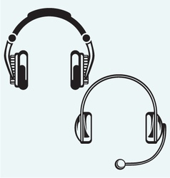 Icon headphones vector image