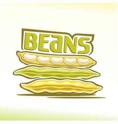 Logo for beans vector