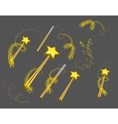 Magic wand set vector