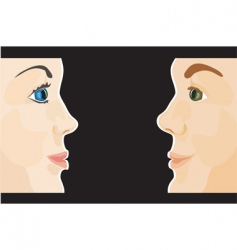 man and woman profiles vector image vector image