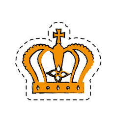Monarch crown isolated icon vector
