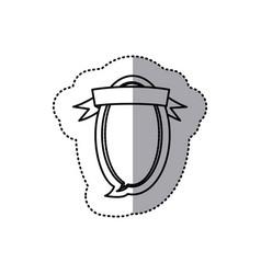 Monochrome contour sticker of oval balloon dialog vector