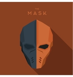 Orange and gray mask of the hero anti-hero a vector