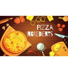 Pizza ingredients background vector