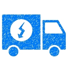 Power supply van grainy texture icon vector