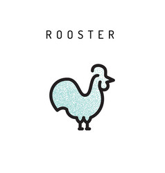 rooster chiken icon vector image