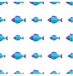 seamless fish pattern ocean or aquarium vector image