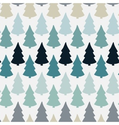 seamless pattern with abstract christmas tree vector image vector image