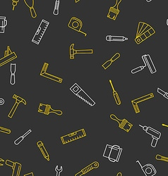 Seamless pattern with tools for repair vector
