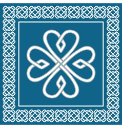 Shamrock - celtic knot traditional irish symbol vector image