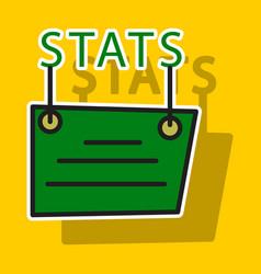 sticker statistics icon infographic chart symbol vector image vector image