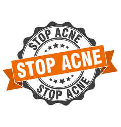 Stop acne stamp sign seal vector