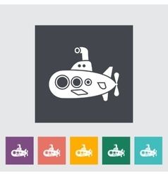 Submarine flat icon vector
