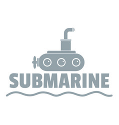 submarine logo simple gray style vector image