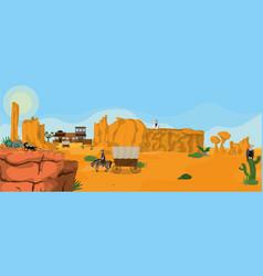 Western town landscape vector