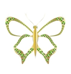 Jewelry gold butterfly in gems vector image