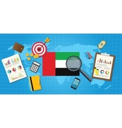 United arab emirates economy economic condition vector