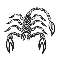 Tattoo zodiac scorpion - astrology sign vector