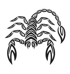 Tattoo zodiac scorpion - Astrology sign vector image