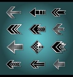 Set of design arrows vector image