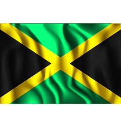 Flag of Jamaica Aspect Ratio 2 to 3 vector image