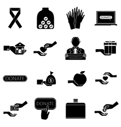 Charity icons set simple style vector