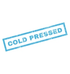 Cold pressed rubber stamp vector