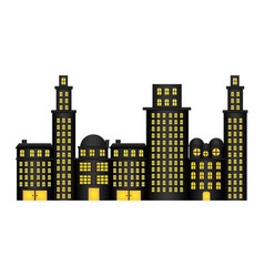 urban cityscape and residential apartments vector image