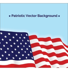 American flag patriotic vector