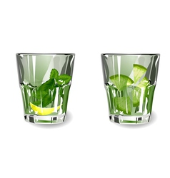 Green cocktail vector