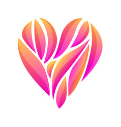 Heart composition on white background vector