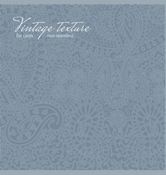 Ornate blue paisley texture for cards and design vector