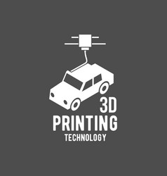 Modern printer badge logotype and icon vector
