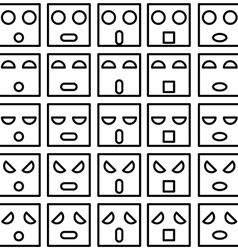 Icons of smiley emotion faces vector