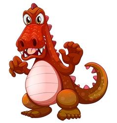 An angry crocodile vector image